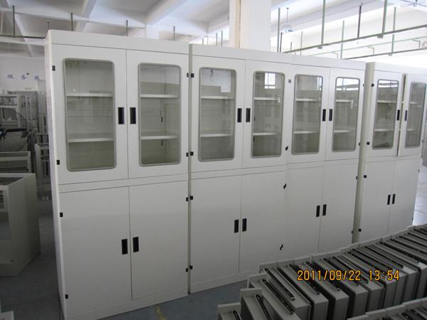 铝木结构器皿柜-中央实验台-器皿柜-钢木实验台